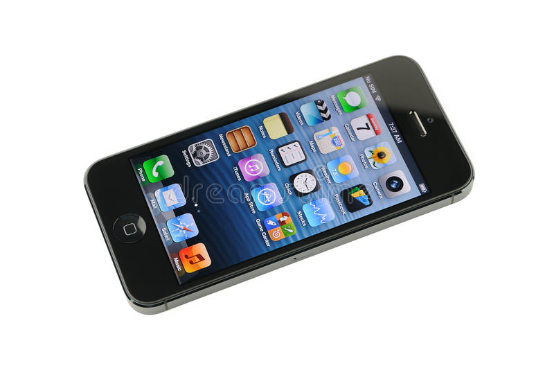 黑iPhone 5 库存图片