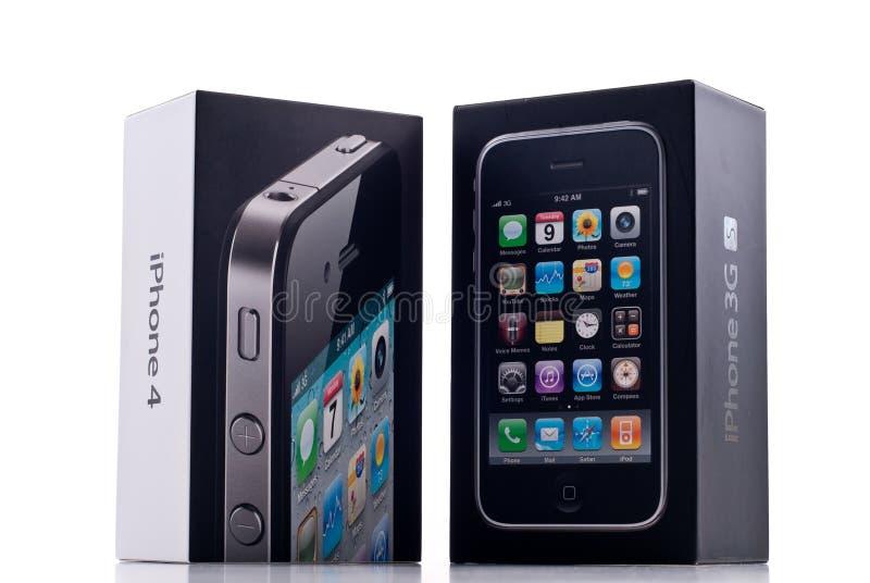 iphone 3gs 4 против стоковое изображение