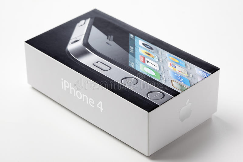 iphone 4 коробок стоковые фотографии rf