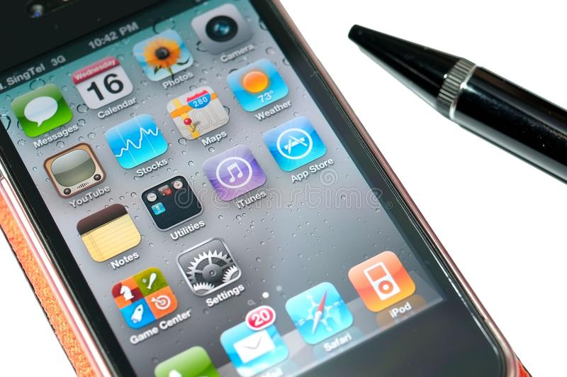 iphone 4 новое стоковая фотография rf