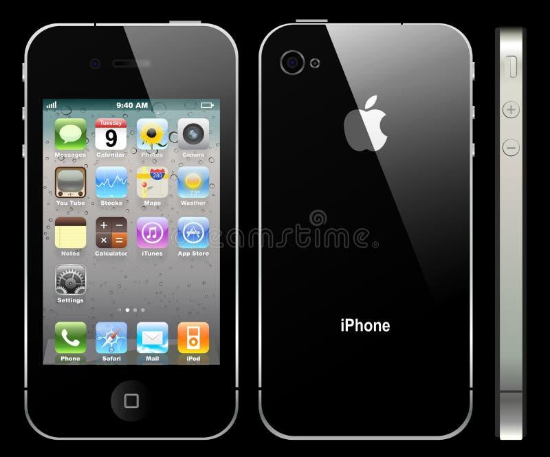 iphone 4 яблок иллюстрация вектора