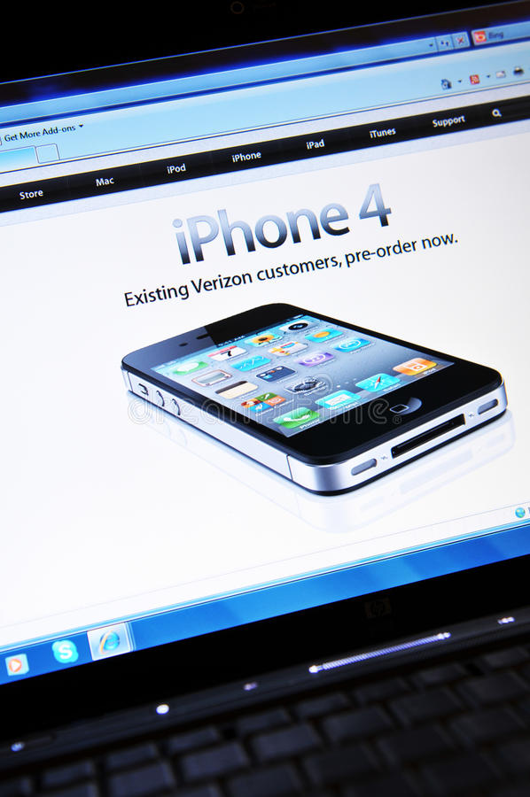 IPhone 4 immagine stock