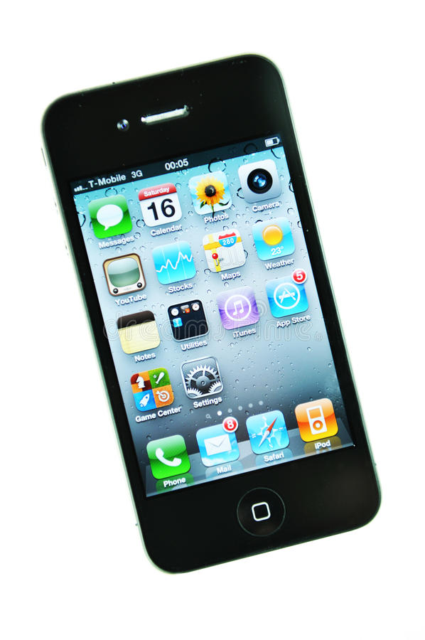 iphone 4 royaltyfria foton