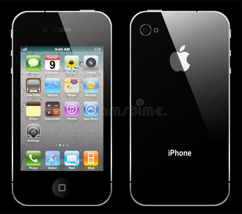 Iphone 4 de vecteur illustration de vecteur