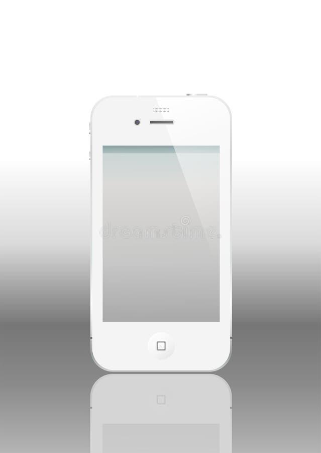 iPhone 4 de vecteur avec l'écran vide
