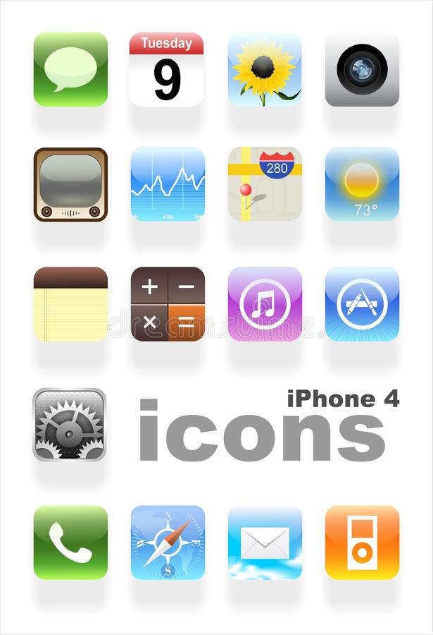 IPhone 4 icone   royalty illustrazione gratis