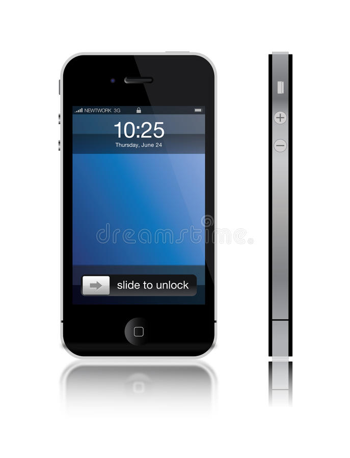 iPhone 4 van de appel royalty-vrije illustratie