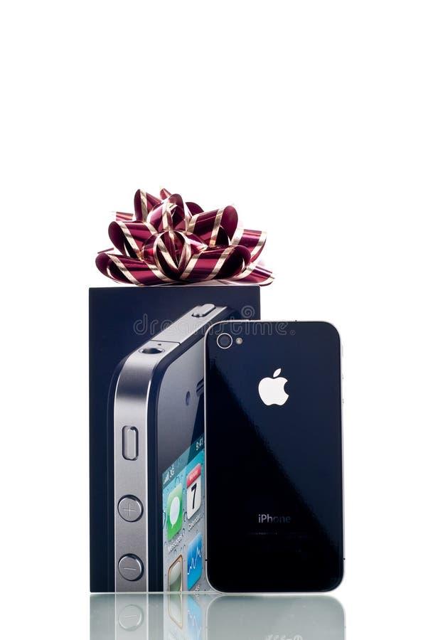 iPhone 4 van de appel Achter bekijkt royalty-vrije stock foto