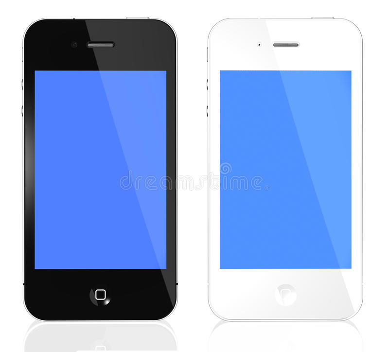 iPhone 4s black and white royalty free illustration