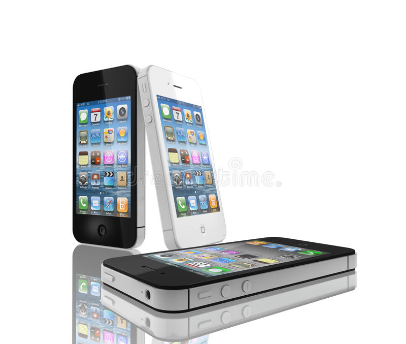 IPhone 4s black and white. The faster dual-core A5 chip. The 8MP camera with all-new optics also shoots 1080p HD video. And introducing Siri vector illustration