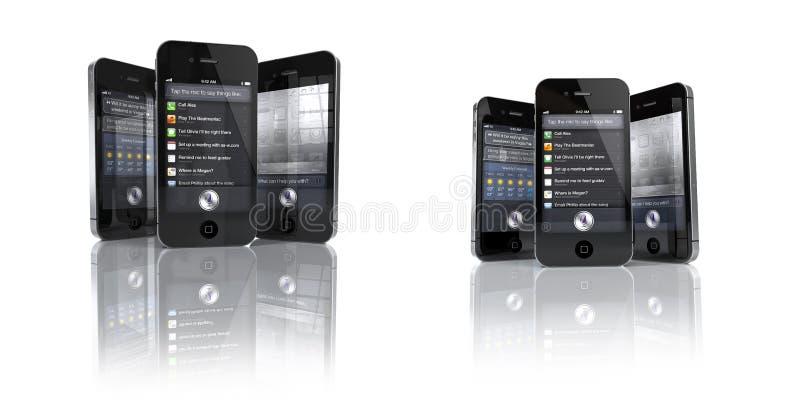 iPhone 4S de Apple com Siri App - JOGO imagens de stock