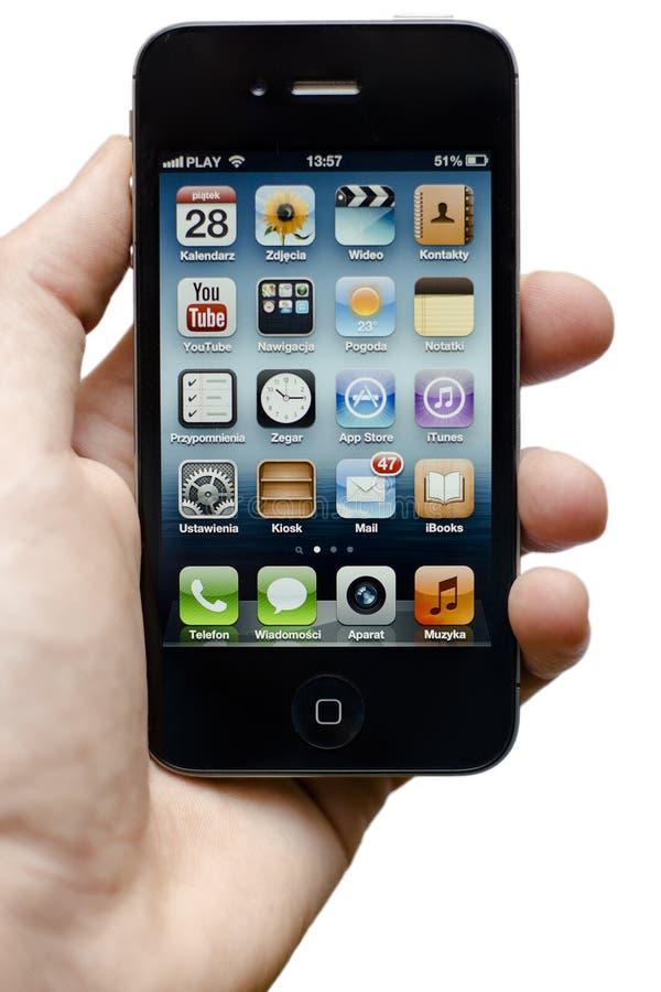 Iphone 4s disponible fotos de archivo libres de regalías