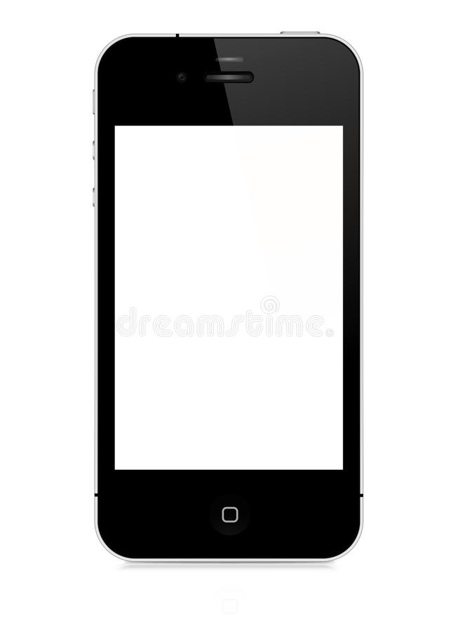 IPhone 4S isolated on white background. IPhone 4 white on white background