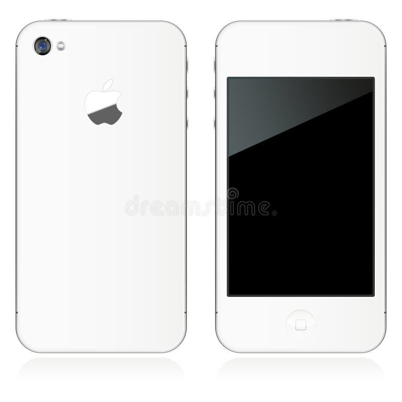 IPhone 4S no branco ilustração do vetor