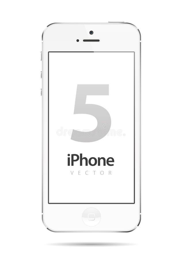 Iphone 5白色向量 库存照片