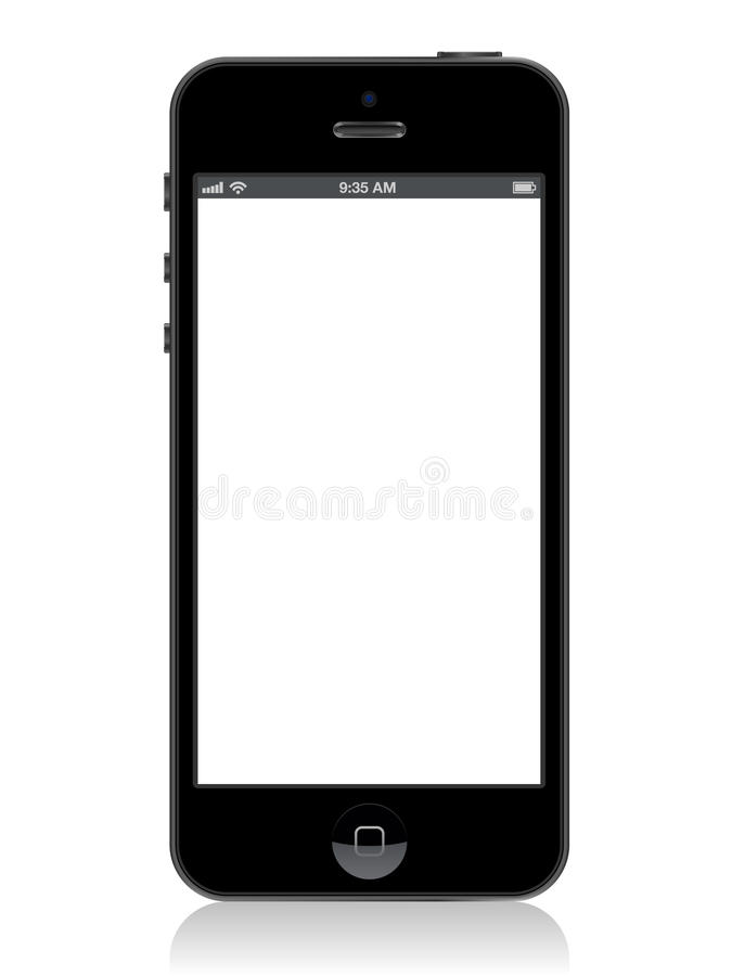 Iphone 5. Vector Illustration of the new Apple iPhone 5 left intentionally blank for use as a template stock illustration