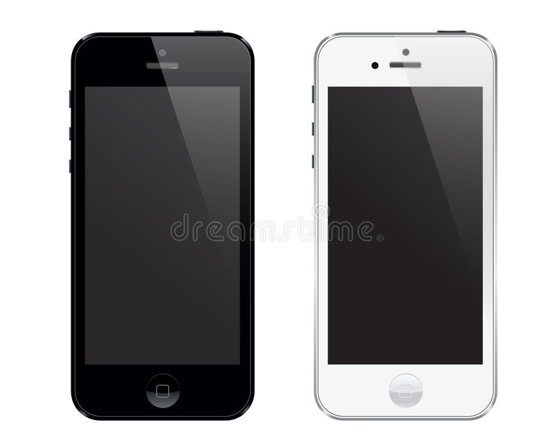 Iphone 5 vektor illustrationer