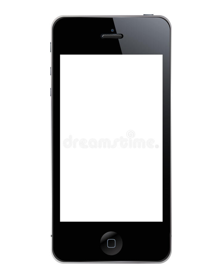 Iphone 5. The new iphone 5 template (illustration
