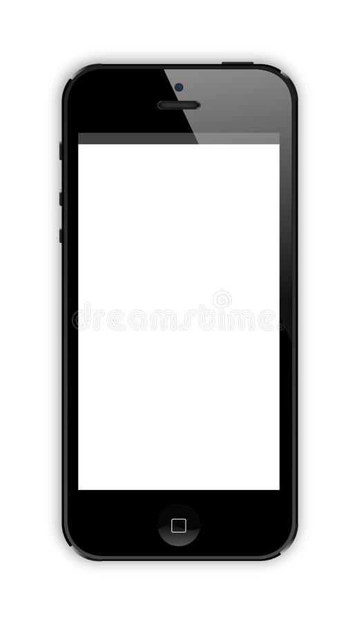 Iphone 5. New iphone 5 presented on 12 September royalty free illustration