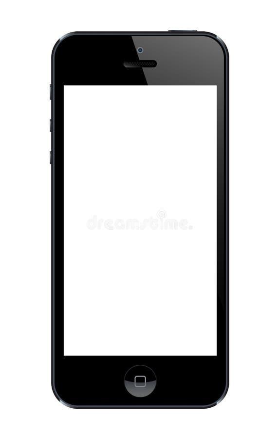 Iphone 5 malplaatje stock illustratie