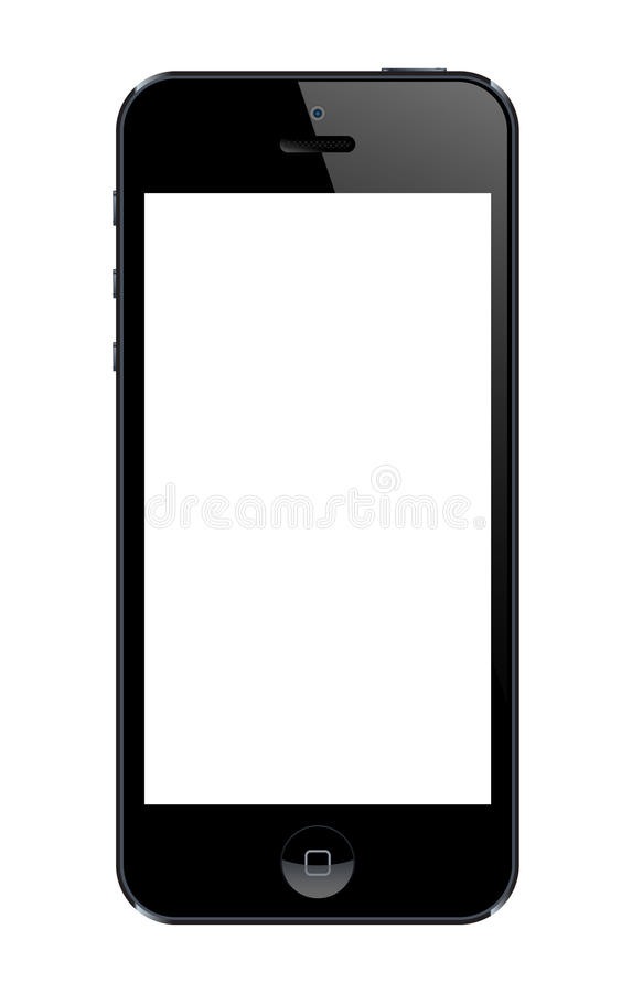 Iphone 5 template stock illustration