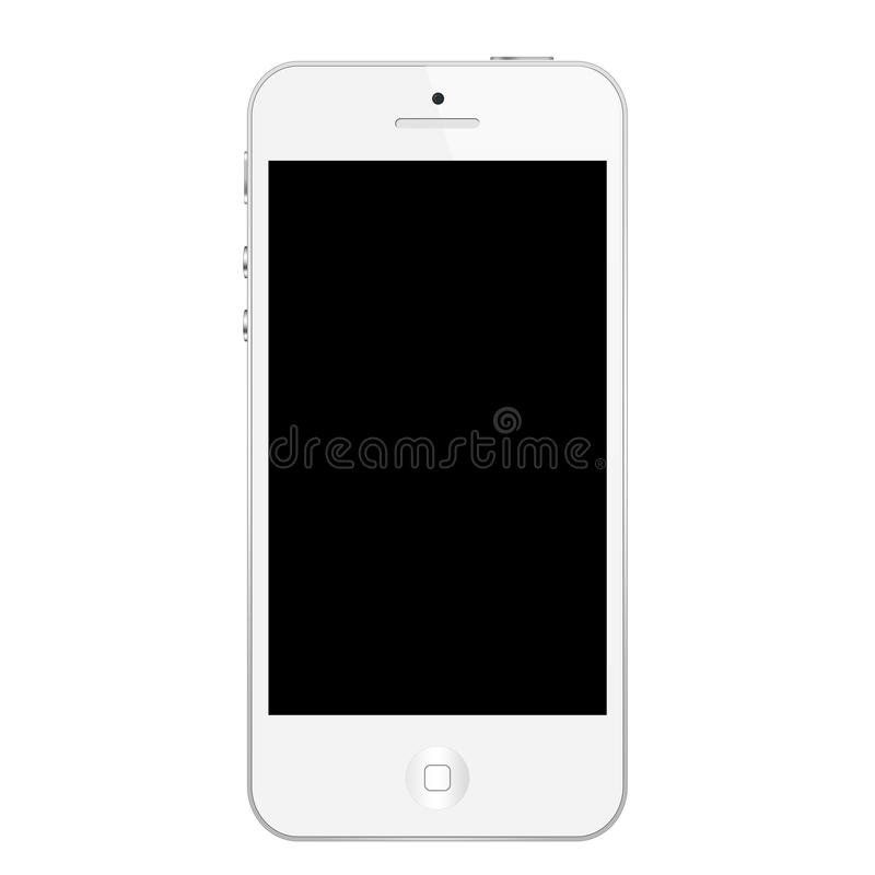 Iphone 5 white stock illustration