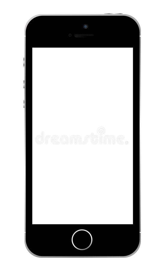 Iphone 5s template vector illustration