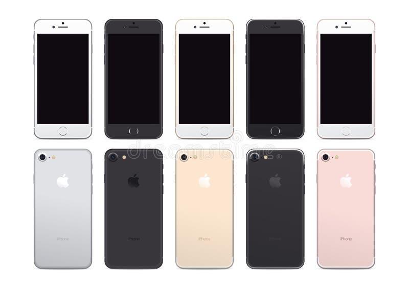 IPhone 7 ilustração stock