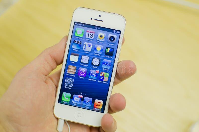 Iphone 5 white royalty free stock photos