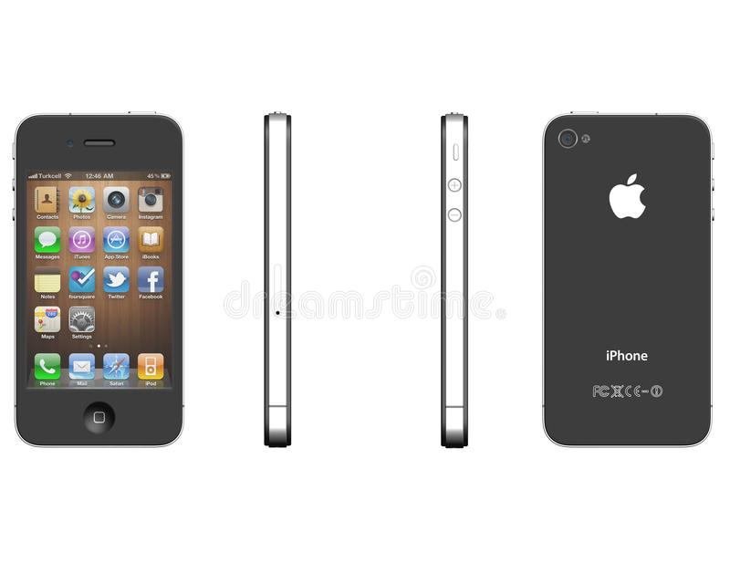Download IPhone 4 editorial stock image. Illustration of calls - 34891469