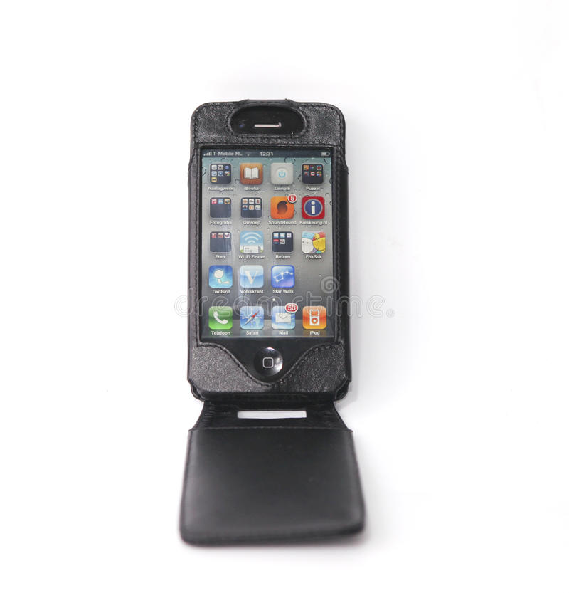 Iphone with applications stock photo