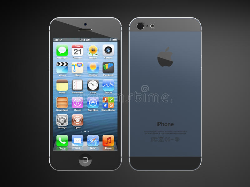 Iphone5. Iphone 5 back and front view