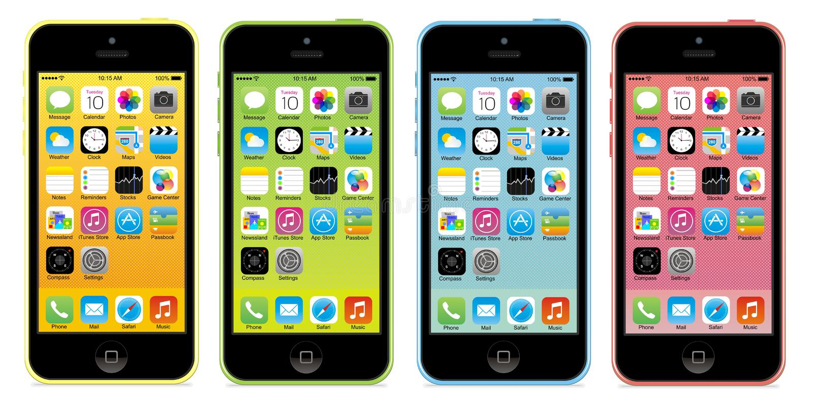 Iphone 5c vector illustratie