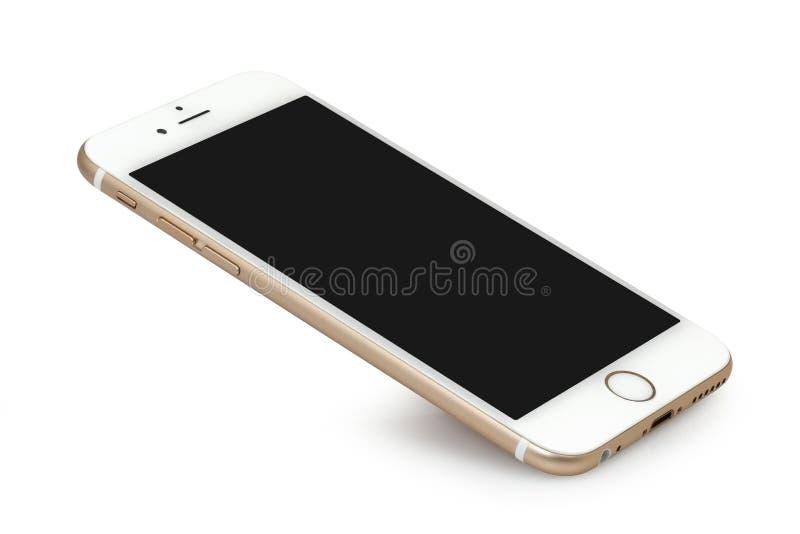 IPhone 6 con lo schermo in bianco immagine stock libera da diritti