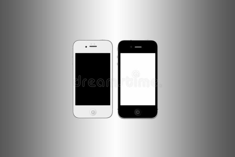 iphone czarny biel ilustracja wektor