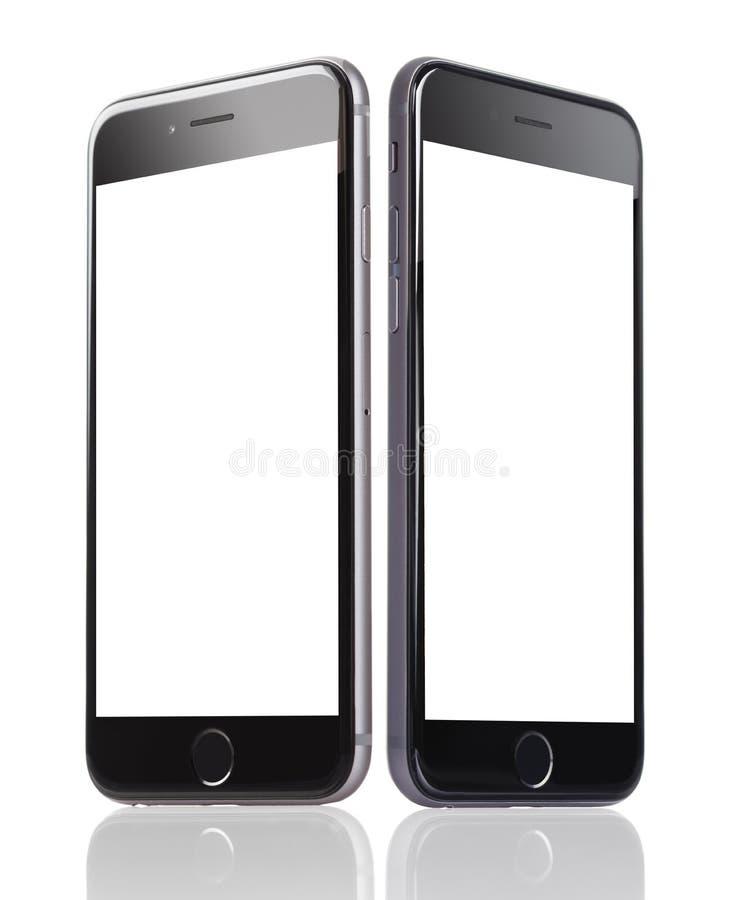 IPhone 6 d'Apple avec les écrans vides images stock