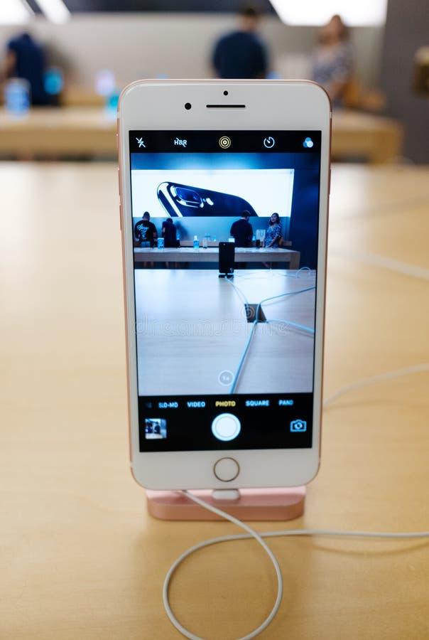IPhone 7 d'Apple plus photographie stock