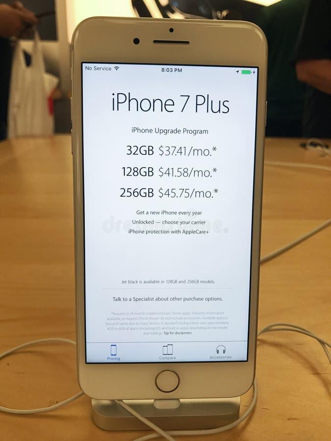 IPhone 7 d'Apple plus photos stock