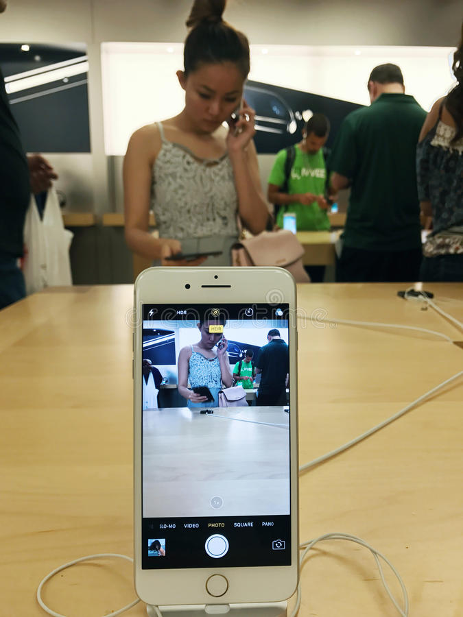 IPhone 7 de Apple fotos de stock royalty free