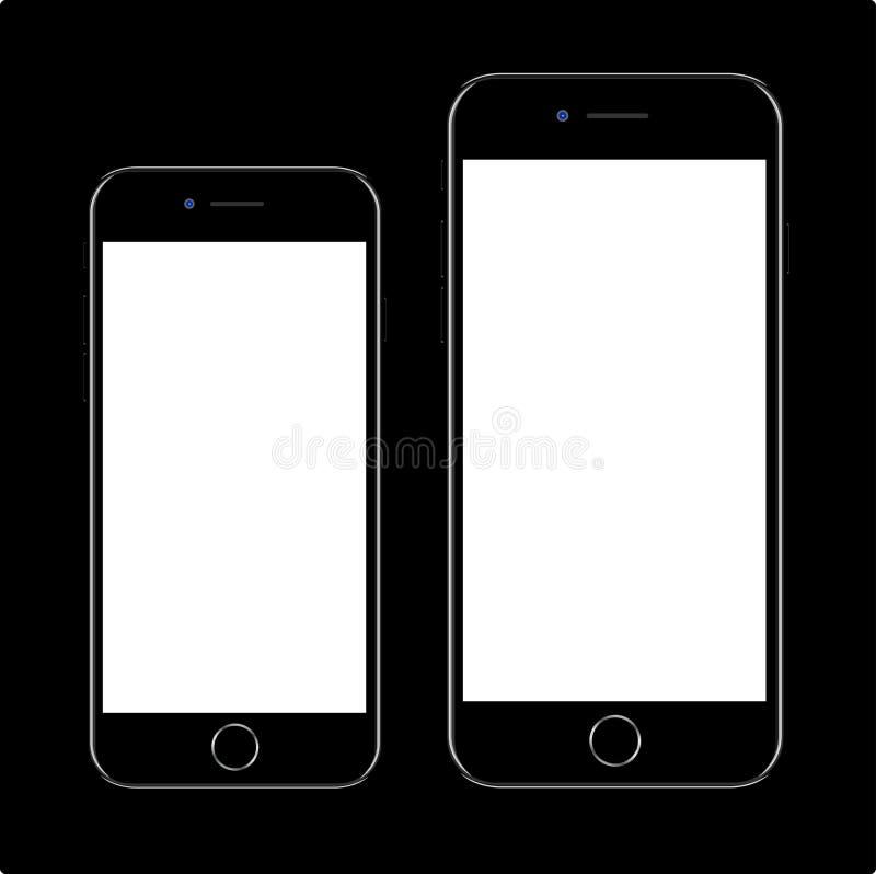 IPhone 7 de Apple ilustração stock