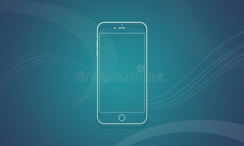 IPhone 6 de téléphone portable photographie stock