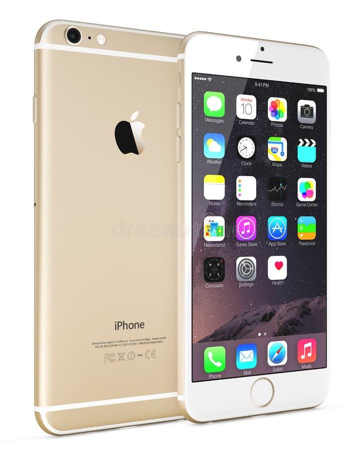 IPhone 6 del oro de Apple imagen de archivo libre de regalías