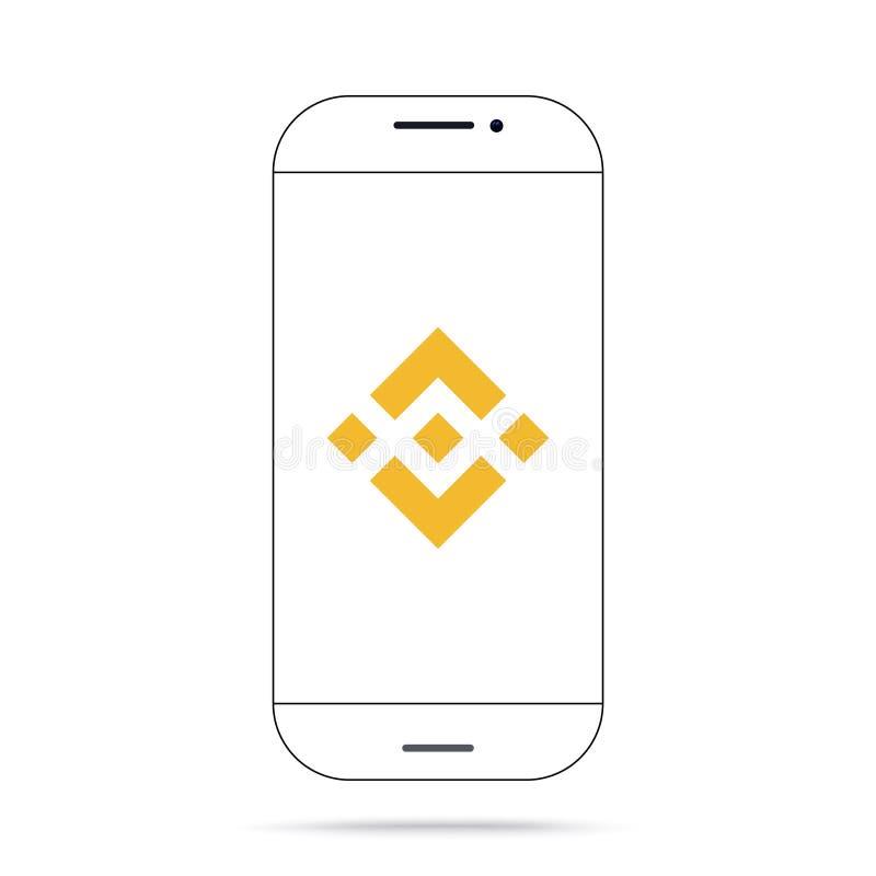 Iphone del vector del icono del cryptocurrency de Binance BNB ilustración del vector