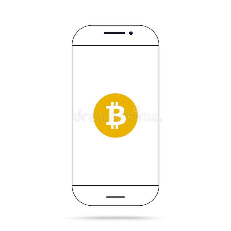Iphone del vector del icono del cryptocurrency de Satoshi Vision BCHSV BSV del efectivo de Bitcoin ilustración del vector