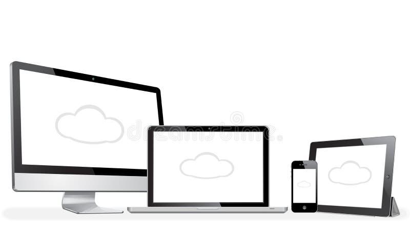 Iphone do ipad do Mac do imac de Apple ilustração do vetor