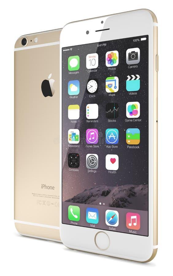 IPhone 6 do ouro de Apple positivo fotos de stock