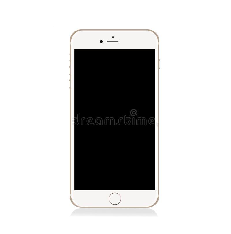 IPhone 6 do ouro de Apple positivo fotografia de stock royalty free