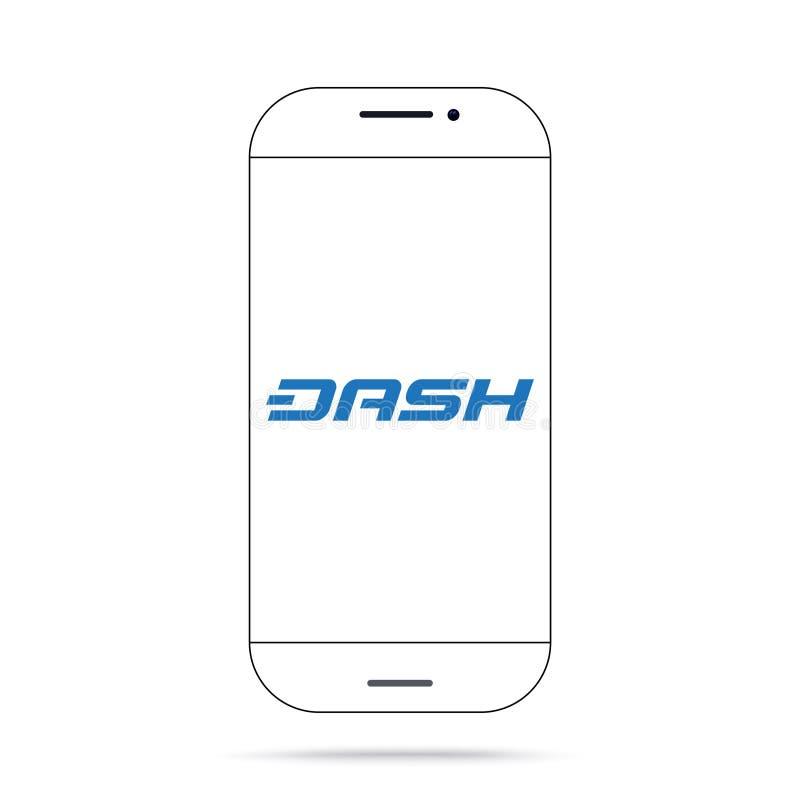 Iphone do vetor do ícone do cryptocurrency do TRAÇO ilustração do vetor