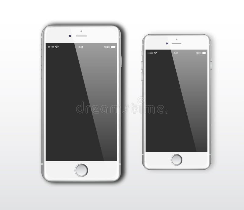 IPhone 6 e iPhone 6 positivo ilustração royalty free