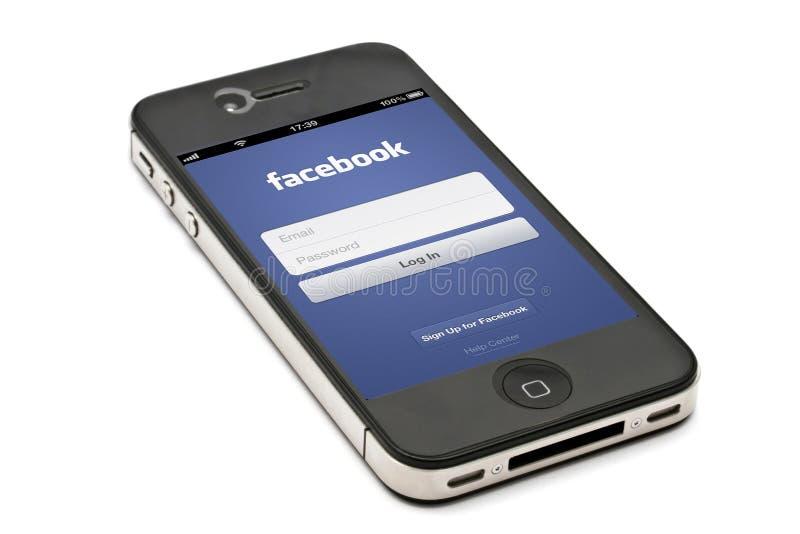IPhone et facebook photo stock